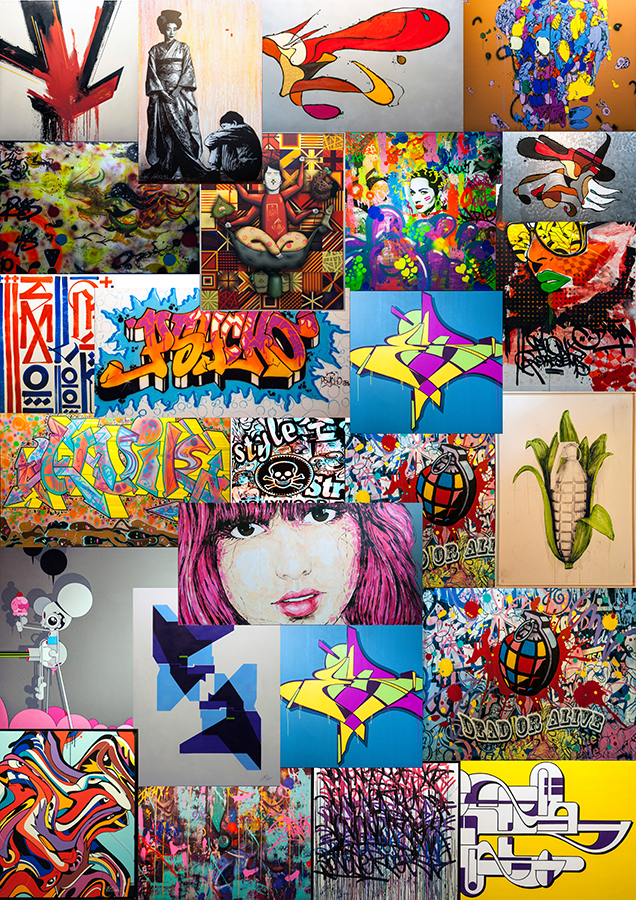 collage urban art