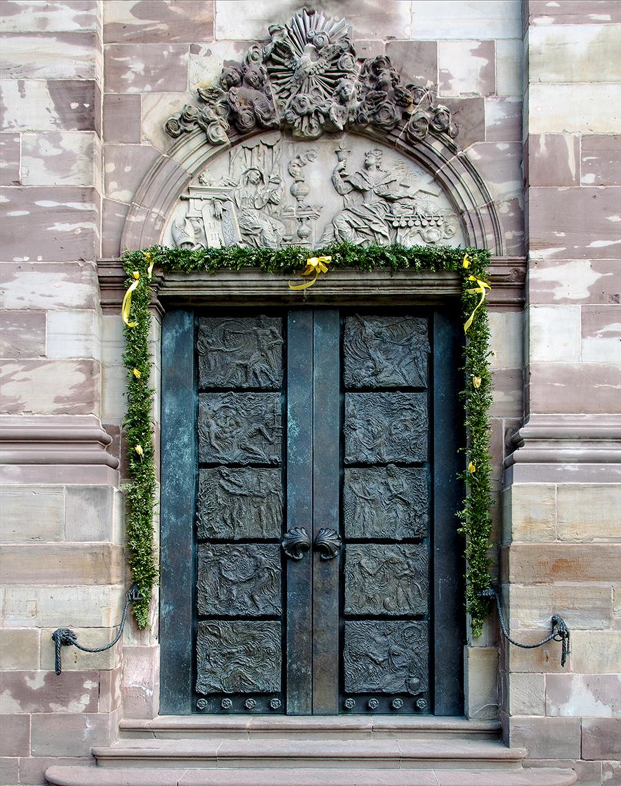 Tür von Ernst Alt – Basilika St. Johann